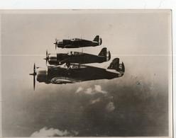 AVION MILITAIRE DAKAR 1947 RECTO SIGNATURES DES 3 PILOTES - Aviazione