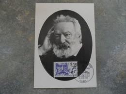 CARTE MAXIMUM CARD PORTRAIT DE VICTOR HUGO FRANCE - Writers