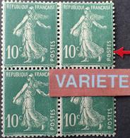 R1491/235 - 1921/1922 - TYPE SEMEUSE CAMEE - N°159h (III) NEUF* Seul Dans Un Bloc - VARIETE ➤➤➤ 1er S De POSTES Retouché - Varieties: 1921-30 Mint/hinged