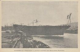 G3231 Lancement Du Paul-Lecat Paquebot Des Messageries Maritimes - 1911 Print - Stampe & Incisioni