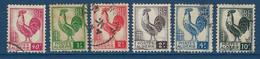 """Algerie YT 218 à 223 """" Coq D'Alger """" 1944-45 Oblitéré - Used Stamps"""