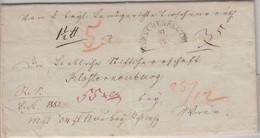 Bayern/Österreich - Tirschenreuth 20/12 HKS Geldbrief N. Klosterneuburg 1846 - [1] Prephilately