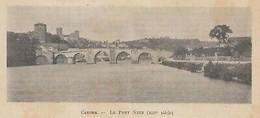 G3509 France - Cahors - Le Pont Neuf - 1906 Vintage Print - Stampa Epoca - Stampe & Incisioni