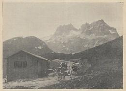 G3634 France - Ancien Refuge Du Glandon Et Aiguilles D'Argentières - 1908 Print - Stampe & Incisioni