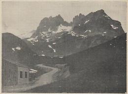 G3724 France - Le Col Du Glandon Et Les Aiguilles D'Argentière - 1912 Old Print - Stampe & Incisioni