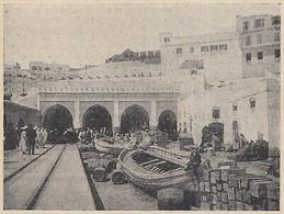G3746 Maroc - La Douane A Tanger - 1912 Vintage Print - Stampa Epoca - Stampe & Incisioni