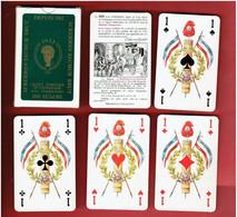 JEU 32 CARTES A JOUER PUBLICITE ACKERMAN SAUMUR BRUT MAINE ET LOIRE FABRICANT CARTE MUNDI - 32 Cards
