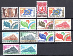 Unesco 1960/69 Neufs** N°22,31,40,49 à 59     TB   3,20 € (cote 18,10 €  14 Valeurs) - Neufs