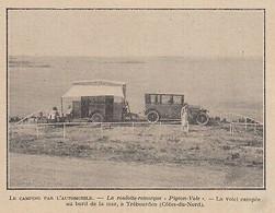 G3887 France - Trébeurden - Roulotte-Remorque Pigeon-Vole - 1922 Vintage Print - Stampe & Incisioni