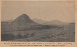 G3926 France - Vue Panoramique Du Gerbier De Jonc Et Du Mézenc - 1914 Old Print - Stampe & Incisioni