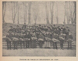 G3969 France - Joueurs De Vielle Du Département De L'Ain - 1914 Vintage Print - Prints & Engravings