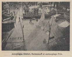 G3992 Aéroplage Blèriot Ratmanoff Et Anémoplage Prin - 1914 Vintage Print - Stampe & Incisioni