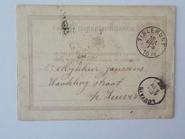 1876 Carte Postale Carte Correspondance Sans Illustration Tirlemont  Louvain - Leuven