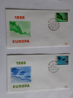 Lot De 2 Enveloppes FDC 1986 Europa Avec Cachets Strombeek - Bever ... Lot380 . - 1981-90