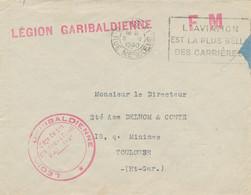 1940 Griffe LÉGION GARIBALDIENNE + Cachet - Omeca  L'AVIATION EST LA PLUS BELLE DES CARRIERES DRÔLE DE GUERRE Etrangè - Guerre De 1939-45