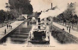 1V3 Nz   51 Reims Le Canal Et Le Pont De Soissons - Reims
