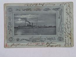 China 82 SMS S. M. S. Luchs In Tonku Tsingtao Qingdao 1902 Ship Steamship Verlag Franz Scholz - Chine