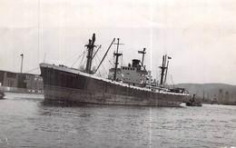 """Photo Ancienne Bateau """"Bernières C.G.T Compagnie Générale Transatlantique Le Havre Ex """" John Harvard """"  Portland U.S.A - Boats"""