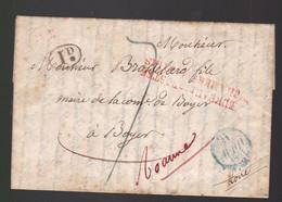 Une Lettre Avril 1831 Sujet Intéressant  à Paris!  Voir  Description    Id Noir    Destination Maire De Boyer ( Loire ) - 1801-1848: Precursors XIX