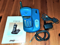 TELEFONO CORDLESS GIPSY INSIP TELECOM COMPLETO DI ISTRUZIONI PERFETTAMENTE FUNZIONANTE - Telephony
