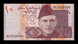 Pakistán 20 Rupees Mohammed Ali Jinnah 2007 Pick 46c SC- AUNC - Pakistan