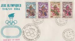 Enveloppe  FDC   1er  Jour    CAMBODGE   Jeux  Olympiques  TOKYO   1964 - Estate 1964: Tokio