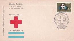 ARGENTINA. CONFERENCIA INTERNACIONAL DE CRUZ ROJA, CROIX ROUGE, RED CROSS. 1967 FDC ENVELOPPE.- LILHU - Cruz Roja