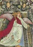 CARTOLINA  LORETO,MARCHE,MELOZZO DA FORLI 1477-1493,SAGRESTIA DI S.MARCO-ANGELO CON CRROCE,CULTURA,MEMORIA,NON VIAGGIATA - Ancona