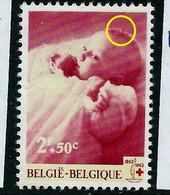 N° 1261 - V1 ( Insecte Sur La Tête )     état: ** - Plaatfouten (Catalogus OCB)