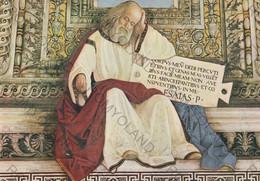 CARTOLINA  LORETO,MARCHE,MELOZZO DA FORLI 1477-1493,SAGRESTIA DI S.MARCO-IL PROFETA ISAIA,CULTURA,MEMORIA,NON VIAGG - Ancona