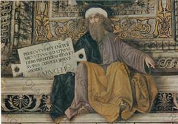 CARTOLINA  LORETO,MARCHE,MELOZZO DA FORLI 1477-1493,SAGRESTIA DI S.MARCO-LA PROFETA BARUCH,CULTURA,MEMORIA,NON VIAGG - Ancona