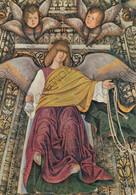 CARTOLINA  LORETO,MARCHE,MELOZZO DA FORLI 1477-1493,SAGRESTIA DI S.MARCO-ANGELA CON FUNE,CULTURA,MEMORIA,NON VIAGG - Ancona