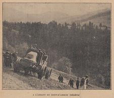 G4008 France - Mégève - A L'assaut Du Mont-d'Arbois - 1919 Vintage Print - Stampe & Incisioni