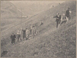 G4135 France - Au Col Du Glandon - La Pose De L'antenne - 1923 Vintage Print - Stampe & Incisioni
