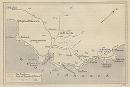 G4216 France - Route De La Corniche De L'Estérel - 1904 Vintage Map - Mappa - Carte Geographique
