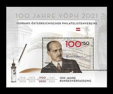 Austria 2020 Mih. 3554 (Bl.118) Constitution Of Austria. Jurist Hans Kelsen MNH ** - 2011-... Unused Stamps