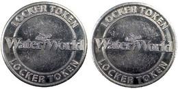 02916 GETTONE TOKEN JETON FICHA  WATER WORLD OUTDOOR FAMILY WATER PARK LOCKER TOKEN - Unclassified