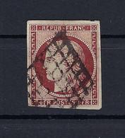 Frankreich Mi.7a Gestempelt Kat.1000,-€ - 1849-1850 Ceres