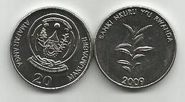 Rwanda 20 Francs 2009. High Grade - Rwanda