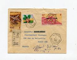 !!! WALLIS ET FUTUNA, LETTRE RECOMMANDÉE PAR AVION DE MATA UTU POUR PARIS DE 1960 - Covers & Documents