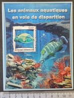 Central African Republic 2017 Endangered Species Marine Life Fish Coral S/sheet Mnh - Centrafricaine (République)