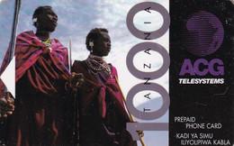 TANZANIA - Native People, ACG Telecard TZS1000, Used - Tanzania