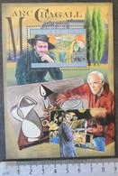 Guinea 2012 Marc Chagall Art Paintings S/sheet Mnh - Guinea (1958-...)