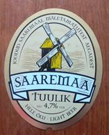 THEME MOULIN : ETIQUETTE BIERE SAAREMAA TUULIK - NEUVE - Bier