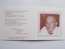 Bidprentje: Willy SLEGERS Echtg. Mariette CROLS, Geb. Retie 1941 +Turnhout 2000 - Décès