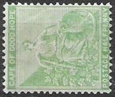Cape Of Good Hope Mint Hinged * 2 Euros 1896 Light Green - Kap Der Guten Hoffnung (1853-1904)