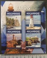 Mozambique 2016 Lighthouses Split Rock Peggys Point Petit Minou Neist Point M/sheet Mnh - Mozambique