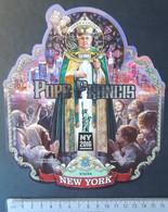 Sierra Leone 2016 Pope Francis Visits New York Religion Popes Statue Of Liberty Souvenir Sheet Mnh - Sierra Leone (1961-...)