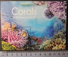 Solomon Islands 2012 Corals Marine Life S/sheet Mnh #1 - Salomon (Iles 1978-...)