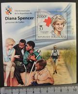 Togo 2012 Diana Spencer Royalty Children Red Cross Disability S/sheet Mnh - Togo (1960-...)